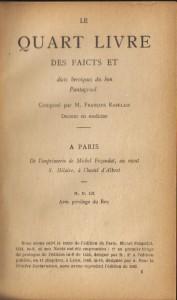 Oeuvres. Les cinq livres, de Francois Rabelais3