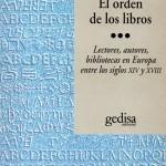El orden de los libros, Chartier232