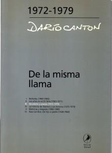 De la misma llama III De plomo y poesía, Darío Cantón432
