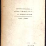 Consideraciones sobre la política económico-social 001